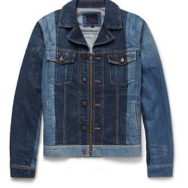 Lanvin - Slim-Fit Two-Tone Denim Jacket