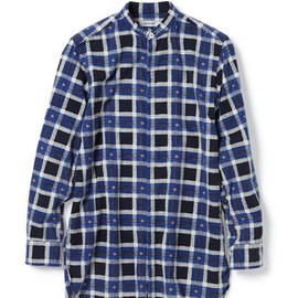 nonnative - DOCTOR LONG SHIRT - COTTON FLANNEL TATTERSALL CHECK