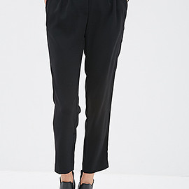 FOREVER 21 - High-Waisted Crepe Pants