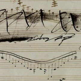 Beethoven - From the manuscript of Beethoven's Violin Sonata in A, Op. 47, with extensive revisions by himself as well as by his pupil Ferdinand Ries (x)