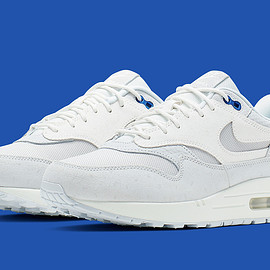 NIKE - Air Max 1 Premium - Pure Platinum/Summit White/Race Blue/Vast Grey