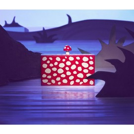 Charlotte Olympia - MUSHROOM PANDORA PERSPEX CLUTCH RED&WHITE 1