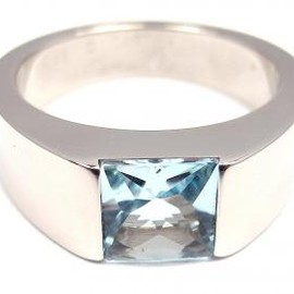 Cartier - tank ring aquamarine