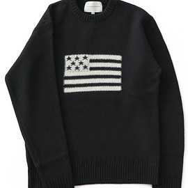 ANALOG LIGHTING - L/S Flag Knit (black/white)