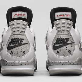 Jordan Brand, NIKE - Air Jordan 4 Retro - White/Tech Grey/Black/Fire Red