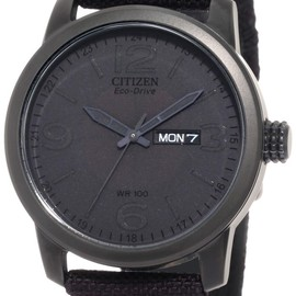 CITIZEN - Black Canvas Strap Eco Drive Watch