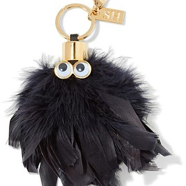 Sophie Hulme - Sam leather-trimmed feather keychain