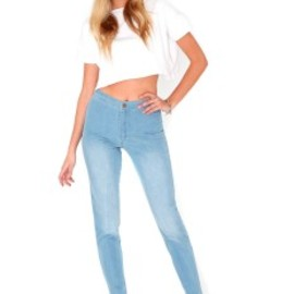 missguided - Madalena High Waisted Skinny Jeans In Light Vintage