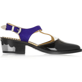 TOGA - Embossed leather and suede pumps