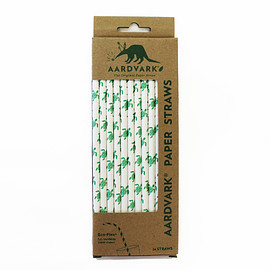 Aardvark - SEA TURTLES RETAIL PACK ECO-FLEX® PAPER STRAWS