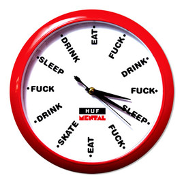 HUF x SKATE MENTAL CLOCK 2012