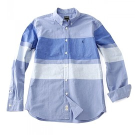 Todd Snyder - <TODD JAPAN MADE>PANEL BORDER OXFORD BD