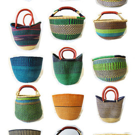 pretty mommy - Ghana Bolga Farmers Market Open Basket