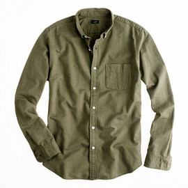 J.CREW - Vintage oxford shirt in tonal cotton