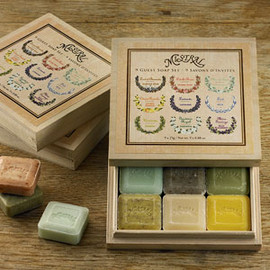 Mistral - 9 Guest Soap Wood Gift Box, Travel Soap Gift Set