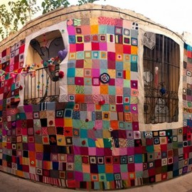 "yarnbombing and The "" Assault on Zaragoza "" Spain"