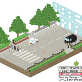 Penney Design - The Beatles Pixel Art / FORTY YEARS OF ABBEY ROAD