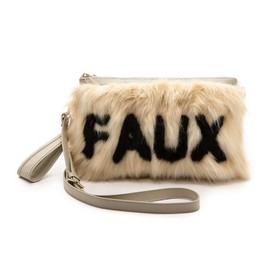 Me and Her Casselini - Me and Her Casselini Faux Fur Cross Body Clutch