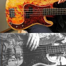 painter: Klaus Voormann/Fender - Klaus Voormann's Precision Bass