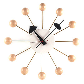 George Nelson - Ball Clock / Natural Color