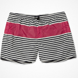 Acne - Besson Short-Length Striped Swim Shorts