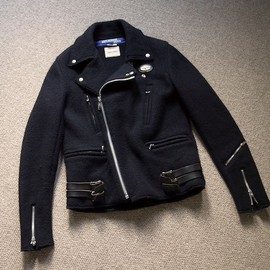 COMME des GARÇONS JUNYA WATANABE MAN × LEWIS LEATHER - WOOL RIDERS JACKET