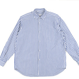 COMOLI - COMOLI SHIRT-Blue Stripe