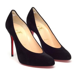 "Christian Louboutin - ""New Declic"" suede pumps"