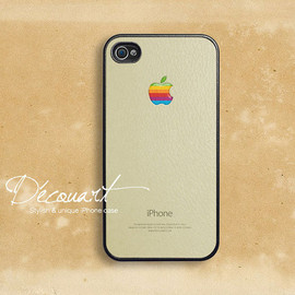 iPhone 5 case, iPhone 4 case, iPhone 4s case, case for iPhone 4, Mac classic with rainbow apple logo B254