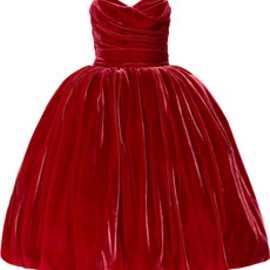 DOLCE&GABBANA - Strapless velvet dress