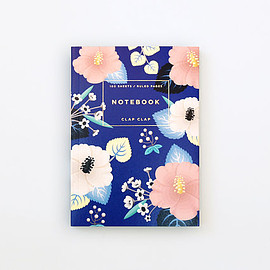 Clap Clap - Hibiscus Notebook - Blue