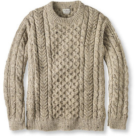 Classic Ragg Wool Sweater, Shawl Collar