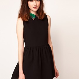 sister jane - Galactic Collar Skater Dress