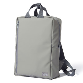 "HEAD PORTER - ""VAPOR"" SQUARE DAY PACK GREY"