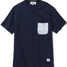 SILAS - SILAS MEN'S(サイラス メンズ)のPATCHWORK POCKET TEE(MADE IN JAPAN)(Tシャツ/カットソー)|ネイビー