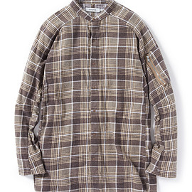nonnative - TOURIST LONG SHIRT COTTON FLANNEL PRINT CHECK VW