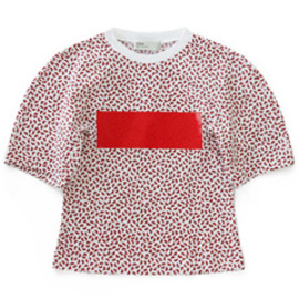 TOGA - Print Jersey T-Shirts (red)