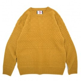 SON OF THE CHEESE - shimple is the best sweter Yellow
