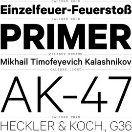 Klim Type Foundry - Calibre