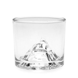 Matterhorn crystal on the rock glass