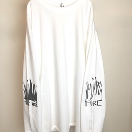 OMIYAGE - FIRE GRAFFITI L/S TEE (WHITE)