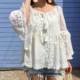 wild and boho - top broderie anglaise