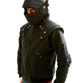 Arthur Knight  Medieval Armor Pullover Hoodie(100% Handmade Wool) Made To Order