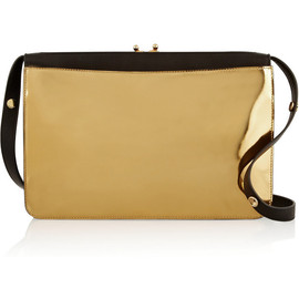 MARNI - Two-tone leather shoulder bag