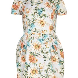 River Island - LIGHT GREY FLORAL PRINT TULIP DRESS(River Island)