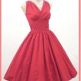 vintage - Trashy Diva Red 50's Style Full Skirt Dress