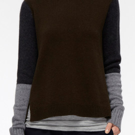 Vince - TRI COLOR-BLOCK TURTLENECK