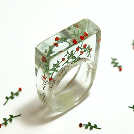 GeschmeideUnterTeck - Red roses rain - romantic flower ring