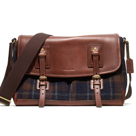 Coach - Woolrich Plaid Messenger