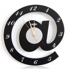 hallomall - Letter @ Web Language Featured Wall Clock
